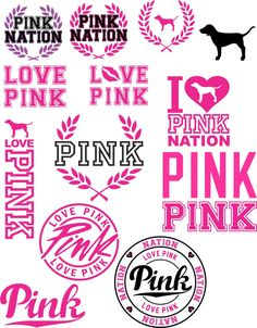 Download Love Pink SVG File Cricut Silhouette Iron On VS Dog ...