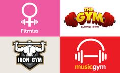 30 Creative Gym and Fitness themed logo designs for your inspiration. Follow us www.pinterest.com/webneel