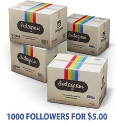 Buy1000followers.net offers real Instagram followers / likes instantly. You can buy Real & active Instagram followers at cheapest price.