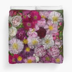 'Bed of Roses' Duvet Cover by Ellen Hoverkamp Heirloom Roses, Buy Bed, Shades Of Purple, Order Prints, My Images, Note Cards, Lilac, Duvet Covers, Tapestry