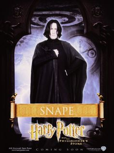 Harry Potter And The Philosopher's Stone promo poster - Professor Severus Snape