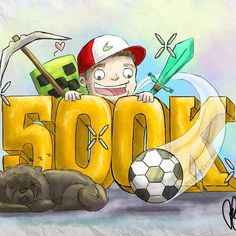 """""""Thank you everyone for 500,000 followers on Twitch! Every day I'm so happy to do what I do thanks to you all. @littlefreeman made us a special drawing :)"""""""