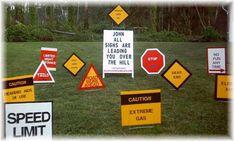 50th Birthday Caution Signs