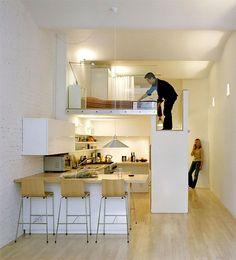 48 Ideas Apartment In New York Loft Interiors Small Studio Apartment Design, Small Studio Apartments, Apartment Layout, Small Apartment Decorating, Tiny House Design, Apartment Ideas, York Apartment, Loft Bed Studio Apartment, Apartment Living