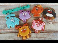 Имбирные пряники: Мастер- класс - Смешарики/ How to decorate cookies - YouTube