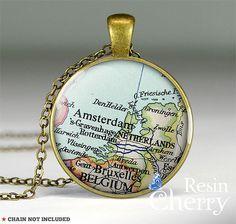 Netherlands map jewelry