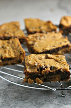 Flourless Chickpea Pumpkin Blondies ~vegan, gluten free~ A protein packed powerhouse blondie recipe perfect for vegan and grain free diets!