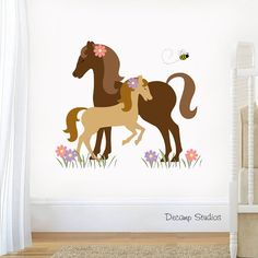 HORSE WALL DECAL Girls Room Sticker Decor