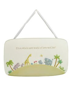 Take a look at this 'It's a Whole New World' Plaque by Grasslands Road on #zulily today!
