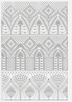 Ideas For Crochet Lace Skirt Fabrics Granny Square Häkelanleitung, Granny Square Crochet Pattern, Crochet Borders, Crochet Diagram, Crochet Stitches Patterns, Crochet Chart, Filet Crochet, Crochet Motif, Irish Crochet