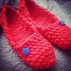 Zapatillas lana con estrellas