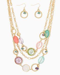 charming charlie | Jaelynn Necklace Set | UPC: 410007414968 #charmingcharlie