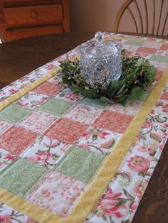 Quilted table runner table runner quilted by WarmandCozyQuilts