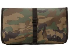 The North Face Base Camp Roll Kit Military Green Woodland Print/TNF Black - 6pm.com