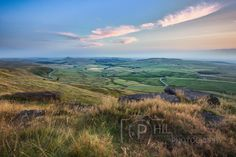 Shining Tor with the Cat & Fiddle road winding through the landscape