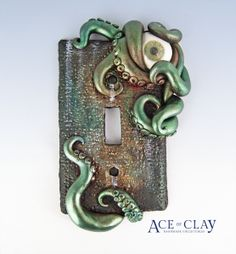 Ace of Clay Steampunk Octopus Light Switch Plate