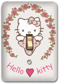 Hello Kitty Light Switch Covers. Kays' room is being being redecorated to Hello Kitty