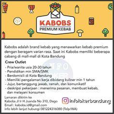 Lowongan Kerja Crew Outlet Kabobs Bandung Juli 2018