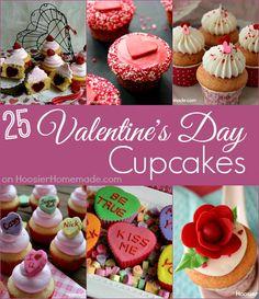 Valentine's Day Cupcakes on HoosierHomemade.com