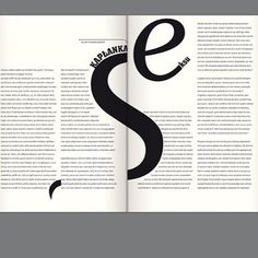 """The editorial design in """"Bluszcz"""" magazine is so. damn. strong. #graphicdesign #typography"""