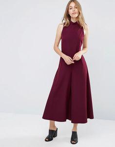 Image 1 - ASOS - Combinaison forme jupe-culotte à encolure montante