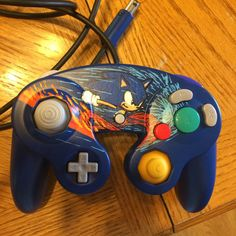 Sonic the Hedgehog Custom Gamecube Controller by GameTattoos on Etsy
