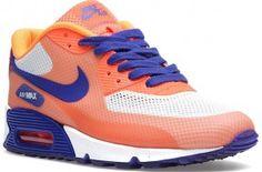 Nike WMNS Air Max 90 Hyperfuse – Hyperblue / Bright Citrus / Crimson