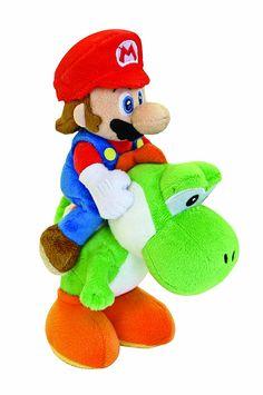 Nintendo 22cm Sanei Super Mario Bros Plush Mario and Yoshi Set: Amazon.co.uk: Toys & Games