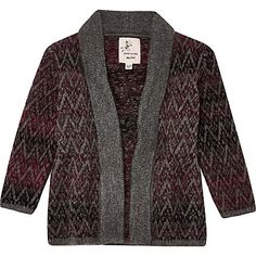 Mini boys brown ombré knit open cardigan £14.00
