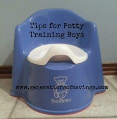Tips on Potty Training Boys - lord knows I need all the help i can get right now