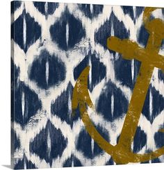 """Nautical Ikat I"" coastal themed canvas art print by Patricia Pinto via @greatbigcanvas at GreatBIGCanvas.com."