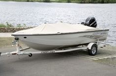 New 2008 Crestliner Boats Fish Hawk 1600 Tiller Multi-Species Fishing Boat