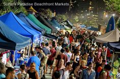 The Surfers Paradise Beachfront Markets are a great way to shop and enjoy the beautiful sea breezes coming off Surfers Paradise Beach.    Qld