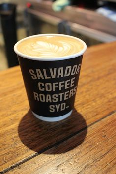 A beautiful flat white at Sydney's Salvador Coffee Roasters