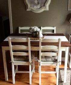 Barn Board Table Set - IKEA Hackers - IKEA Hackers