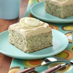Potluck Banana Cake with coffee frosting