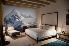 Winter Wall Murals Bring the Magic of the Season Indoors - http://freshome.com/winter-wall-murals/