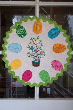 Quilted Easter Tweet Wreath/Wall Hanging by annarocksthreads, $90.00