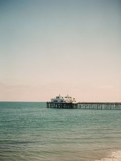 The stunning Malibu Pier.  Photo by Matt Edge Photography