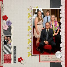 Barbara's Cre8ive Escape: Our family portrait (new product by Crystal Livesay @ P&Co.)