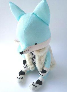 AKI the fox. made-to-order. eco fox. stuffed fox. by LESNE on Etsy Stuffed Fox, Woodland Animals, Plushies, Dinosaur Stuffed Animal, Christmas Gifts, Plush, Fox, Forest Animals, Christmas Presents