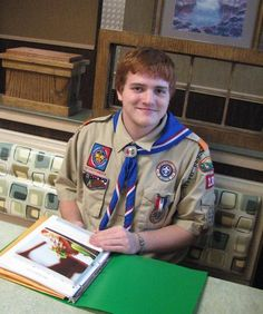 Billy Kleinknecht chose to create 100 informational packages about Crohn's disease and ulcerative colitis for his Eagle Scout project.