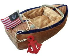 Nautical Boat Dog Bed