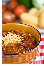 Crock Pot Chili - Made this yesterday!!!!!!!!!!!!! So good that my husband told me to laminate the recipe incase of flooding, lol we live in Oregon with no flooding... LOL
