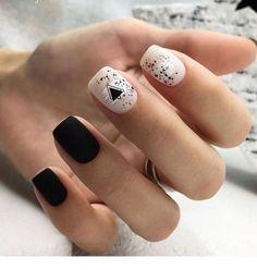 Cute Nail Art Designs For Short Nails 2019 48 Cute Nail Art Designs, Short Nail Designs, Beautiful Nail Designs, Cute Nails, Pretty Nails, White Short Nails, Nagel Gel, Nail Decorations, Red Nails