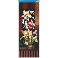 Papel para Arte Francesa Litoarte 22,8 x 62 cm - Modelo AFVE-022 Orquideas II - CasaDaArte