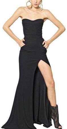 Balmain Viscose Cady Long Dress