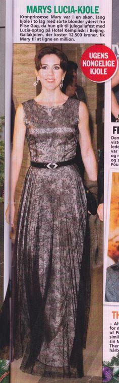 1cefb6b2 Her Royal Highness, Crown Princess Mary of Denmark, wearing ELISE GUG Det  Danske Kongehus