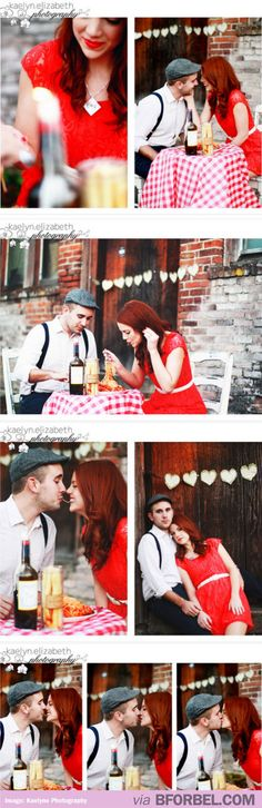 """b for bel: """"Lady and the Tramp"""" Inspired Engagement Shoot"""