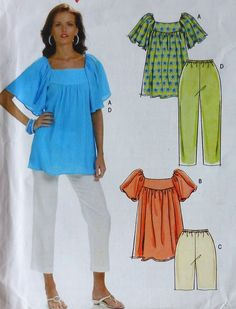 Tops,Shorts,and Capri Pants Sewing Pattern